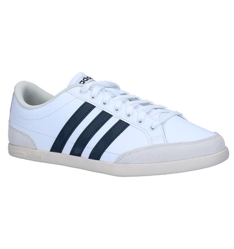 adidas Caflaire Witte Sneakers in kunstleer (276462)