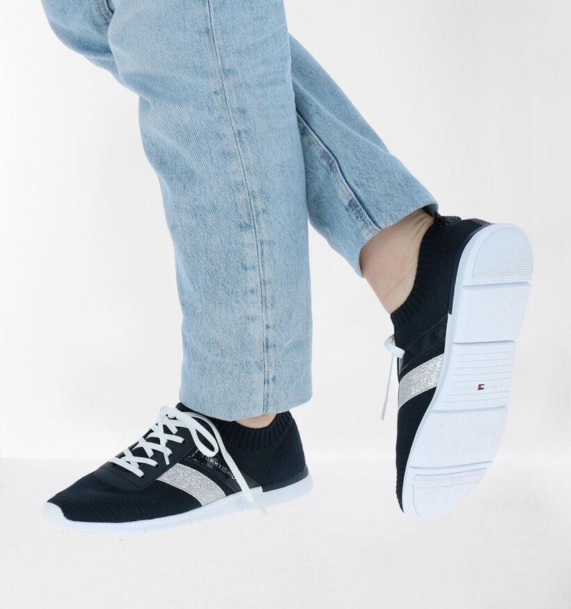 Tommy Hilfiger Feminine Blauwe Slip-on Sneaker in kunstleer (276243)