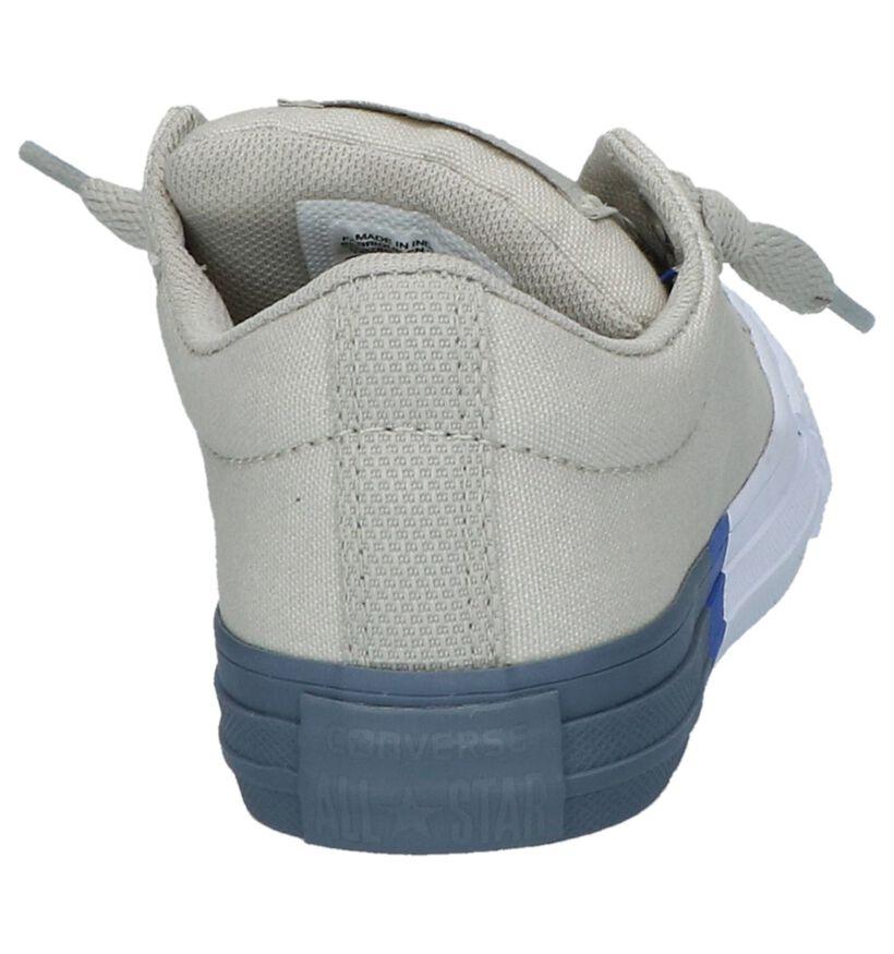 Grijze Sneakers Converse Chuck Taylor All Star Street Slip in stof (210281)