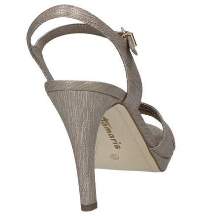 Taupe Sandalen High Heels Tamaris in kunstleer (214409)