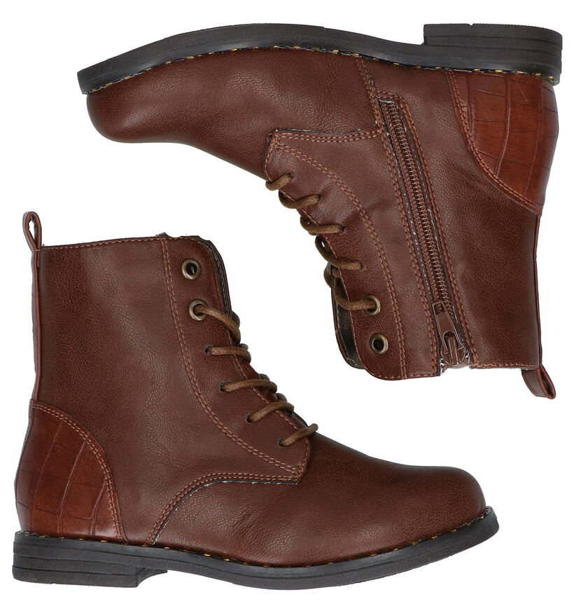 Sprox Chaussures hautes en Cognac en simili cuir (288456)