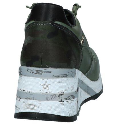 Cetti Groene Sneakers met Sleehak, Groen, pdp