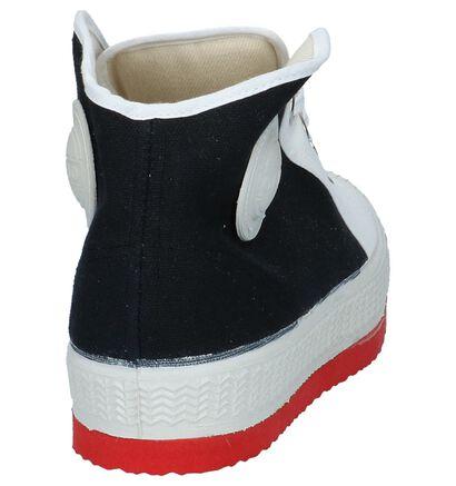 0051 Anton Zwart/Witte Sneakers, Zwart, pdp
