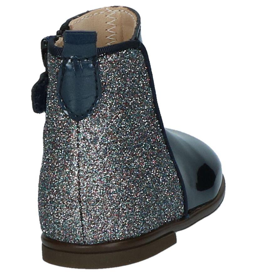 Beberlis Donkerblauwe Babylaarsjes met Glitter in kunstleer (230251)
