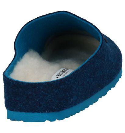 Donkerblauwe Pantoffels Birkenstock Kaprun in wol (231547)