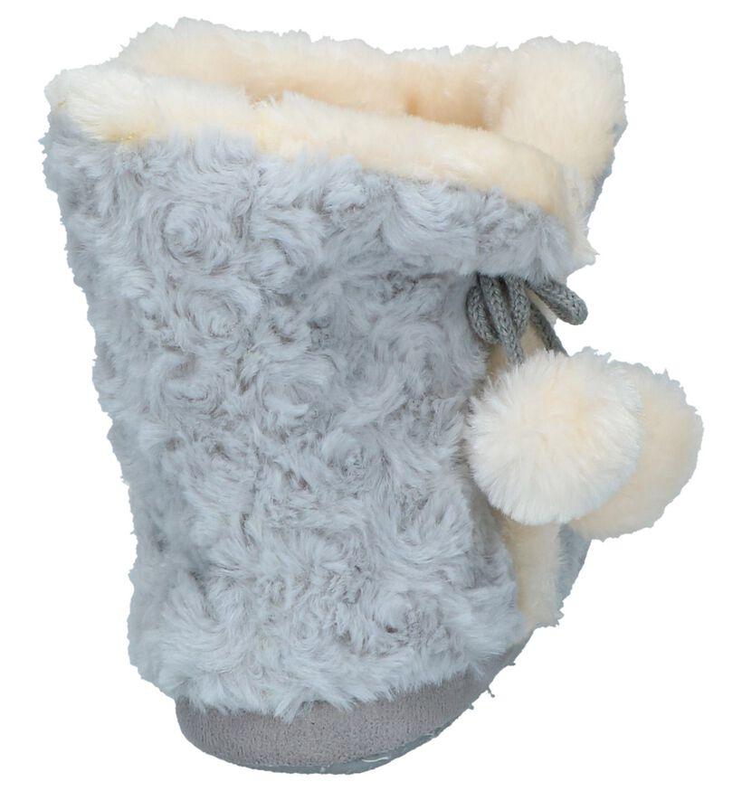 Lichtgrijze Pantoffels Youh! in faux fur (232378)
