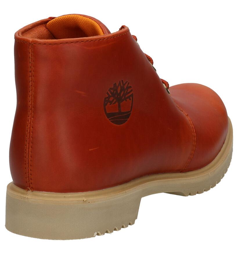 Timberland Newman Boots Cognac in leer (255369)