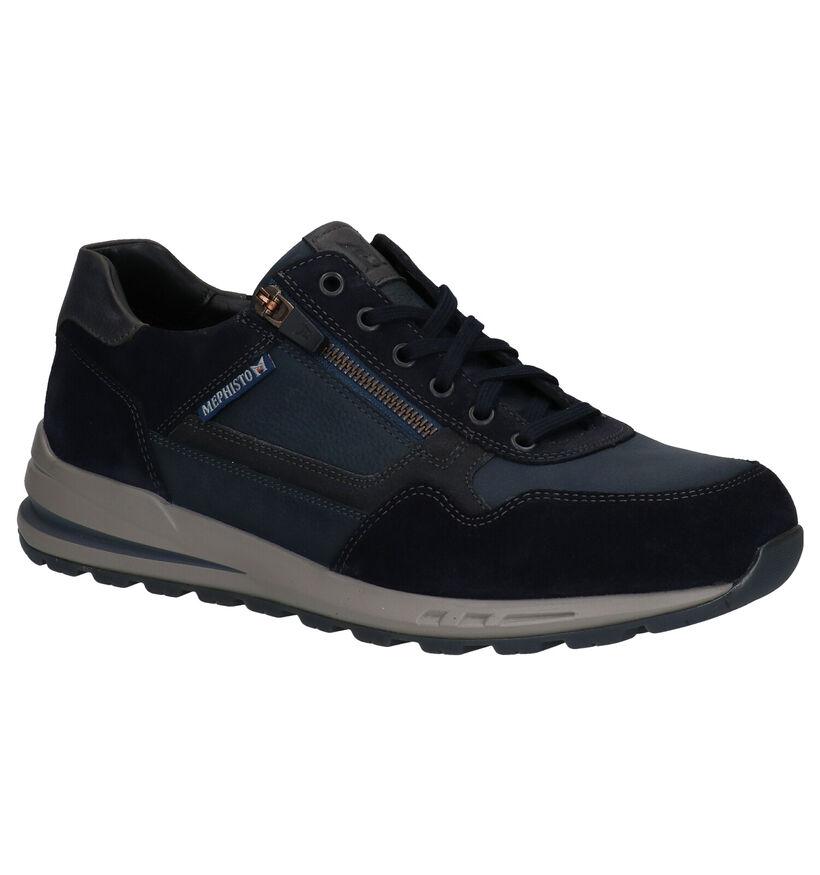 Mephisto Bradley Chaussures à lacets en Bleu en cuir (280909)