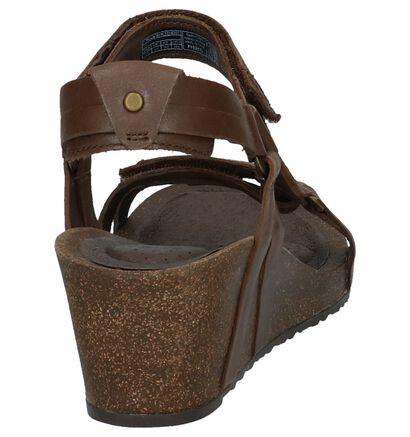 Sandalen met Sleehak Donkerbruin Teva Ysidro Universal in leer (212736)
