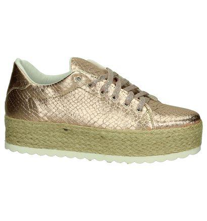Youh! Chaussures à lacets en Or rose en imitation cuir (201260)