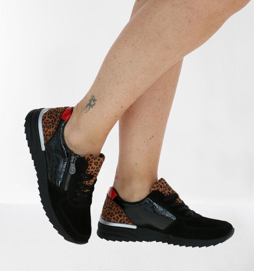 Rieker MemoSoft Zwarte Sneakers in kunstleer (283955)