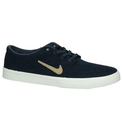Nike Portmore Donker Blauw Sneakers, Blauw, pdp