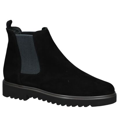 Zwarte Paul Green Chelsea Boots in nubuck (233411)