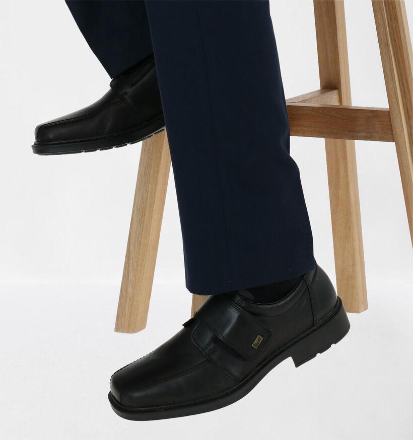 Rieker Chaussures basses en Noir en cuir (281733)