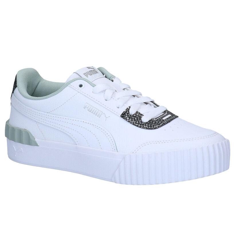 Puma Carina Lift Snake Witte Sneakers in kunstleer (280800)
