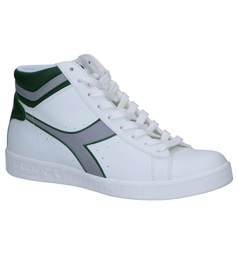 Diadora Game P Witte Hoge Sneakers in kunstleer (253699)