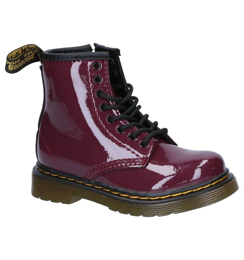 Dr. Martens Patent Paarse Boots in lakleer (253326)