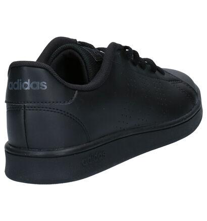 adidas Advantage Zwarte Sneakers in imitatieleer (252540)