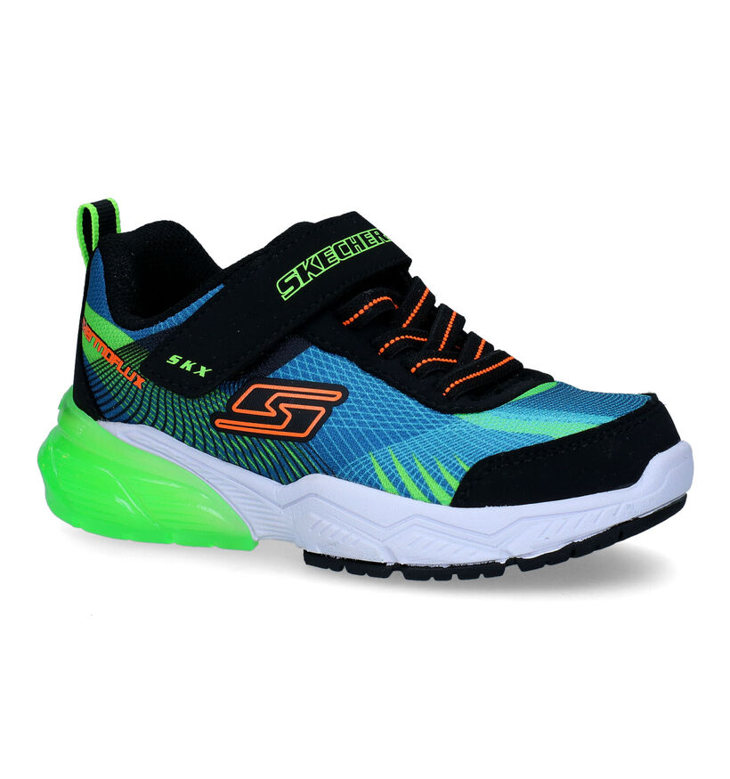 Skechers Thermoflux 2.0 Blauwe Sneakers in stof (294231)