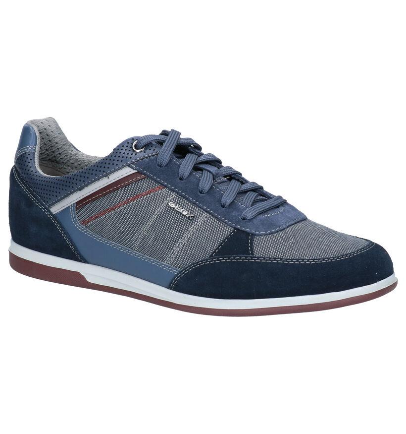 Geox Renan Donkerblauwe Sneakers in stof (266709)
