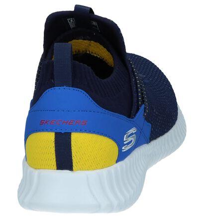 Zwarte Slip-on Sneakers Skechers in stof (247392)