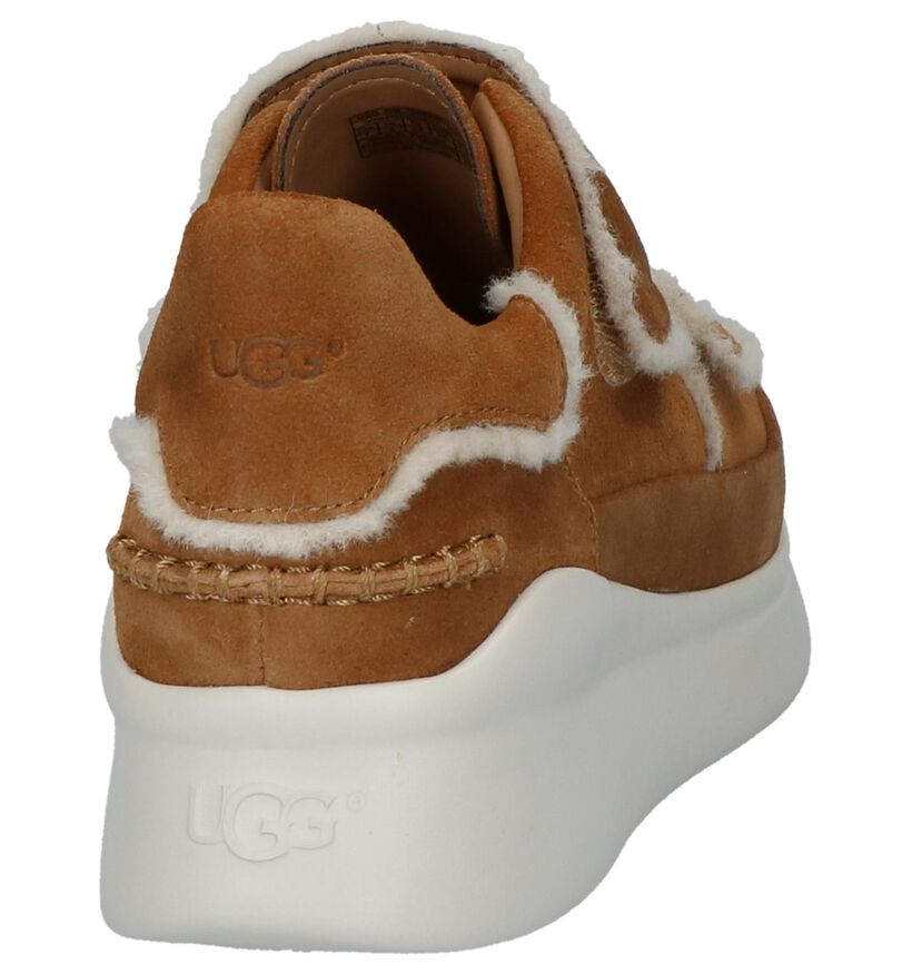 UGG Ashby Spill Seam Cognac Sneakers in daim (223599)
