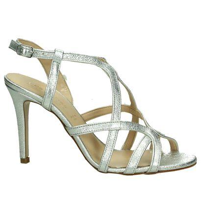 Les Autres Zilveren Sandalen High Heels, Zilver, pdp