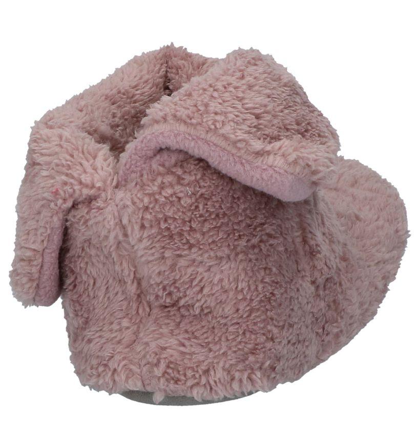 Youh! Donkerroze Pantoffels in faux fur (225892)