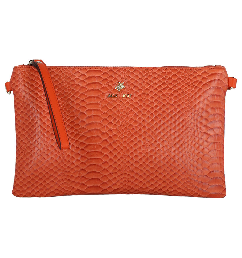 Aca Jou Catalpa Pochette en Orange en simili cuir (272915)