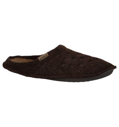 Bruine Pantoffels Crocs Classic in stof (227129)