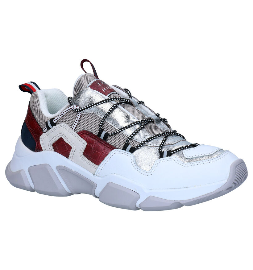 Tommy Hilfiger Chunky Zilveren Sneakers in daim (279978)