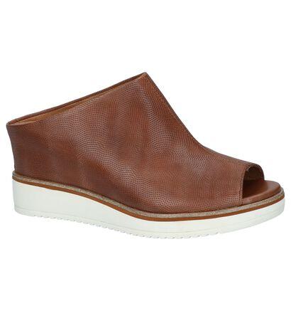 Tamaris Nu-pieds à talons en Cognac en cuir (244275)