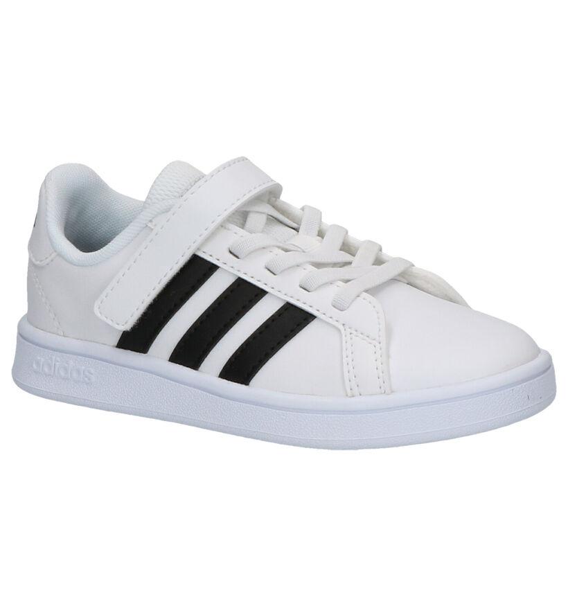 adidas Grand Court Zwarte Sneakers in kunstleer (273466)