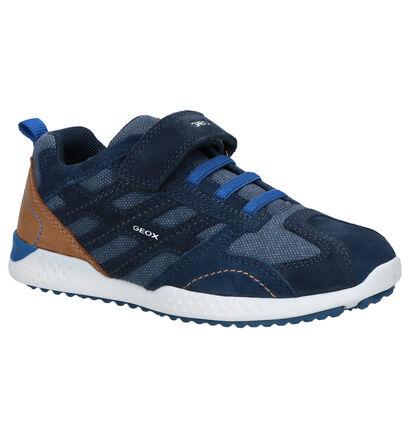 Geox Blauwe Velcroschoenen in daim (265798)