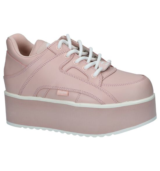 Roze Sneakers Buffalo London Rising Towers