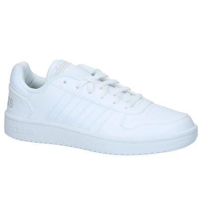 adidas Hoops 2.0 Baskets en Blanc en simili cuir (221720)