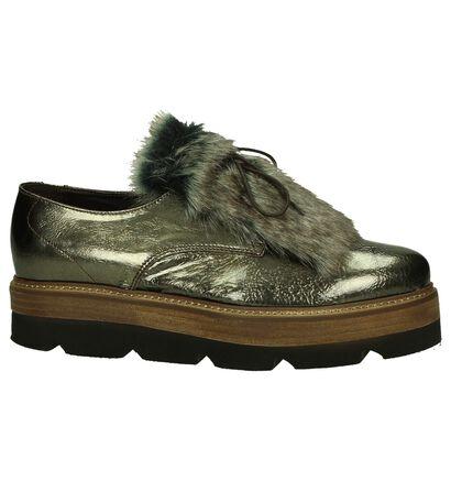 Sergio Turri Chaussures à lacets en Bronze en cuir (206921)