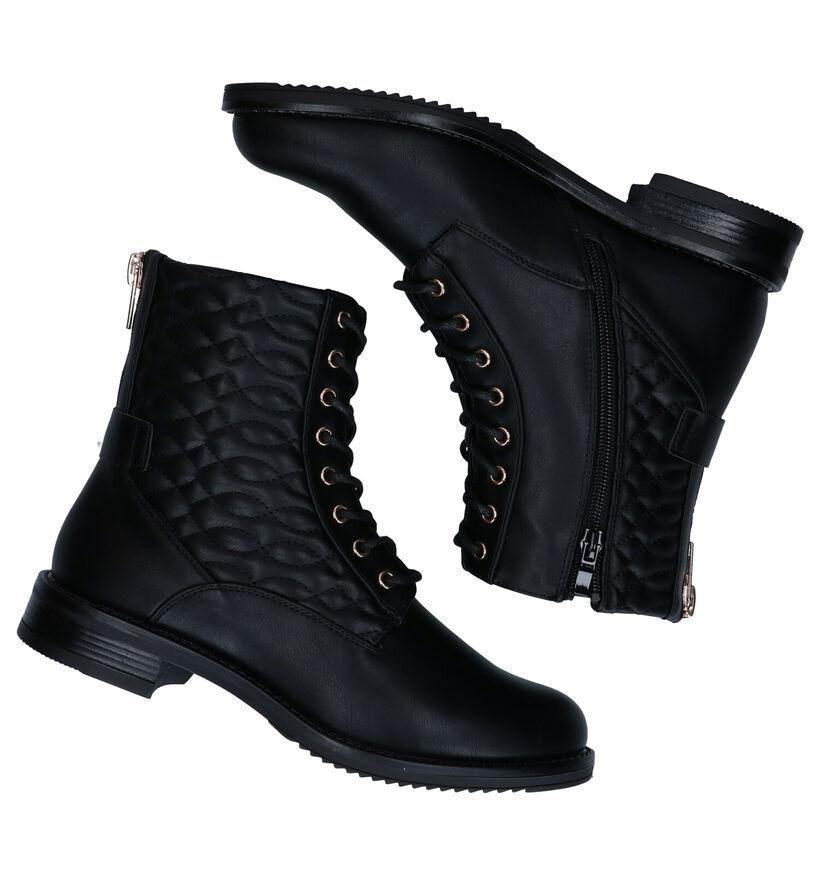 Youh! Conan Zwarte Boots in kunstleer (277408)
