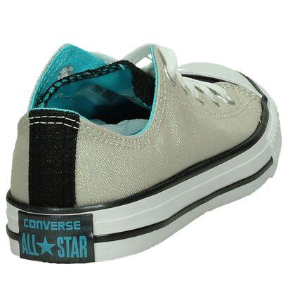 Zilveren Sneakers Converse CT All Star Ox in stof (191279)