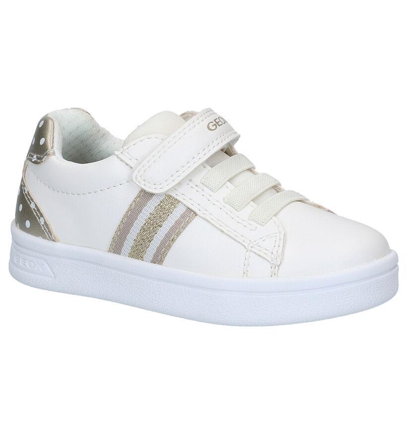 Geox DJ Rock Chaussures à velcro en Blanc en simili cuir (286929)