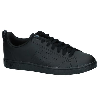 adidas Advantage Clean Baskets en Noir en simili cuir (237096)