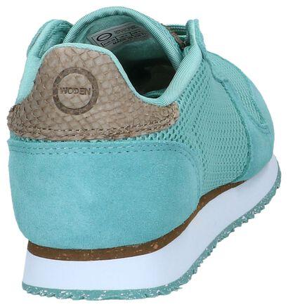 Woden Blauwe Sneakers in stof (254188)