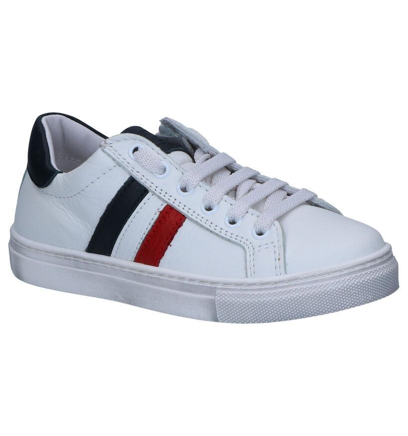 Hampton Bays Bands Sneakers Wit in leer (273225)