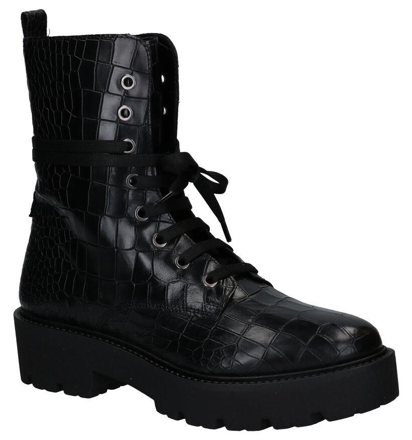Hampton Bays Zwarte Boots in leer (277839)