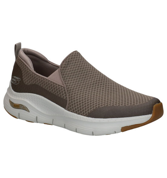 Skechers Arch Fit Taupe Instappers