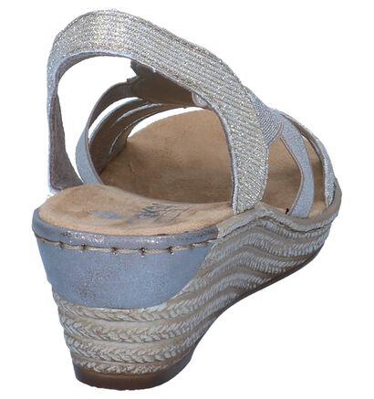 Rieker Gouden Sandalen in stof (271892)