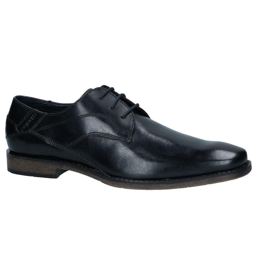Bugatti Chaussures habillées en Noir en cuir (237311)