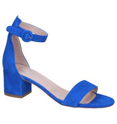 Blauwe Sandalen Via Limone in daim (251014)