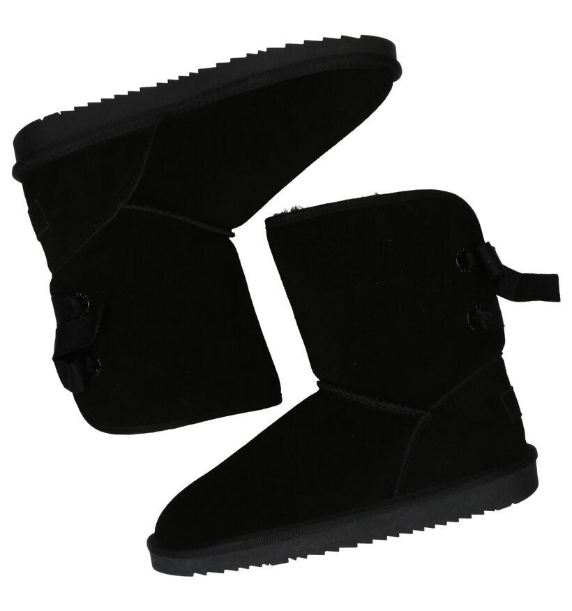 Esprit Luna Bow Zwarte Boots in daim (279761)