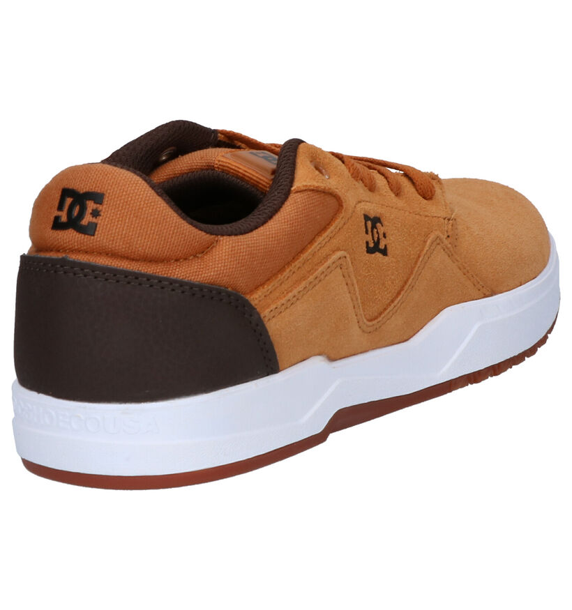 DC Shoes Barksdale Cognac Skate Sneakers in daim (254820)
